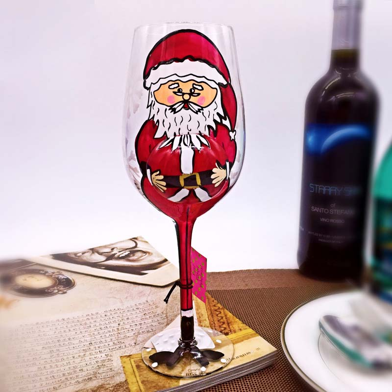 christmas wine glasses manufacturer hand painted christmas