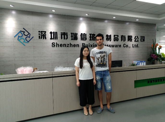 Italy Customer visit RuixinGlass on July 2