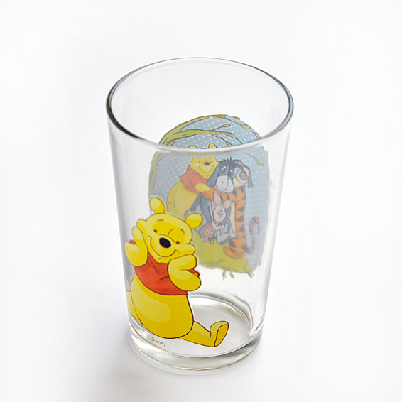 Hand-painted glass cup