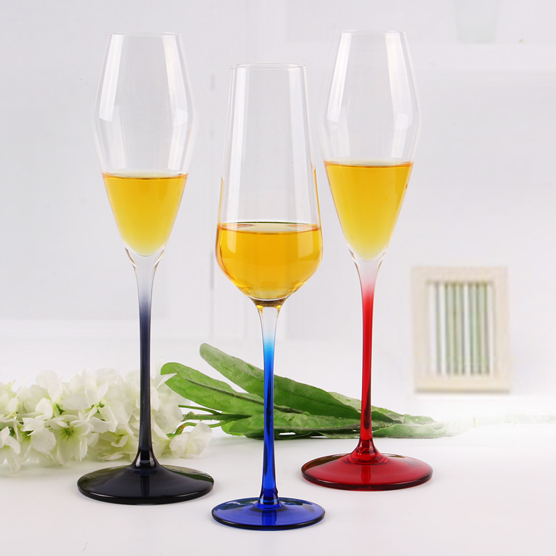 colorful champagne flute