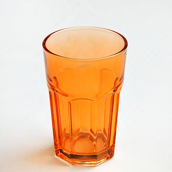 China new Spraying  Color  glass cup  tumbler colored drinking glasses supplier