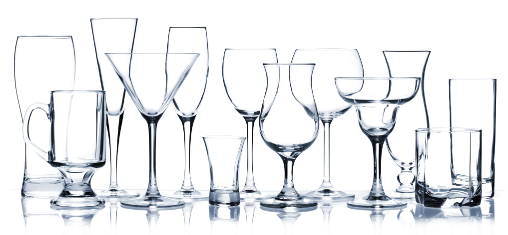 Types of household glassware