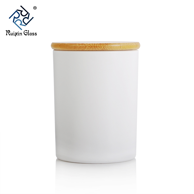 CD069 Frosted Candle Jars With Lids Wholesale