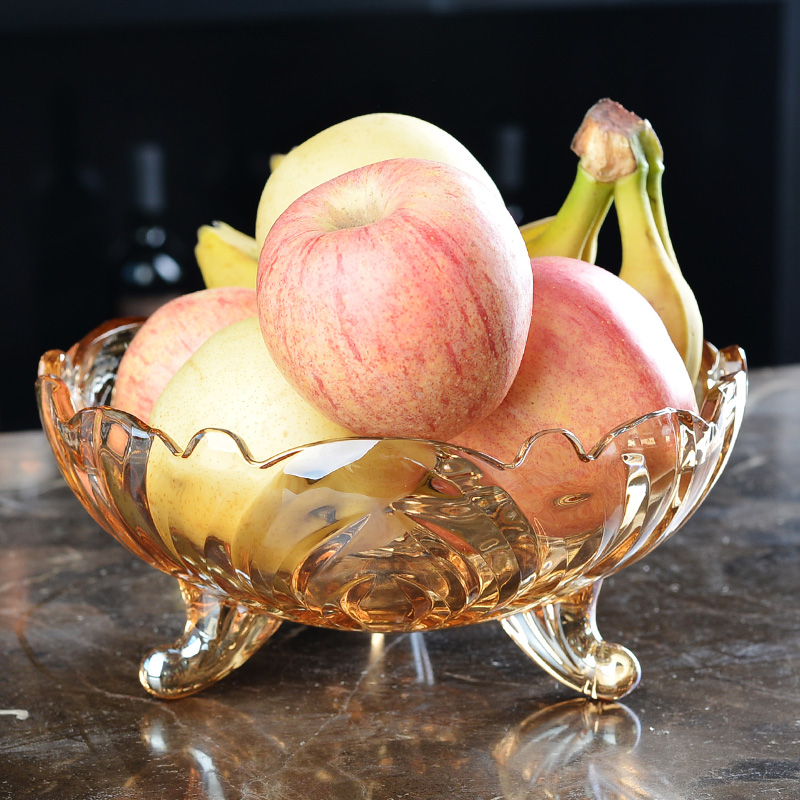 glass fruit bowl with stand