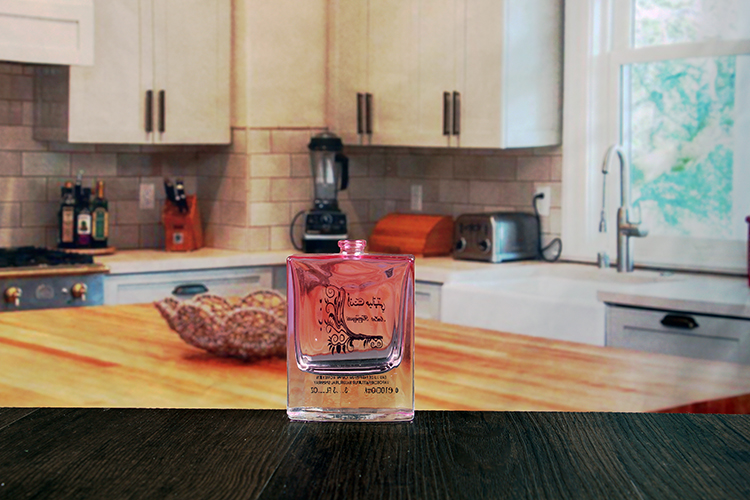 Pink Decal Perfume Bottle