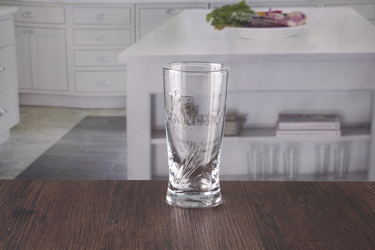 Embossed beer glasses