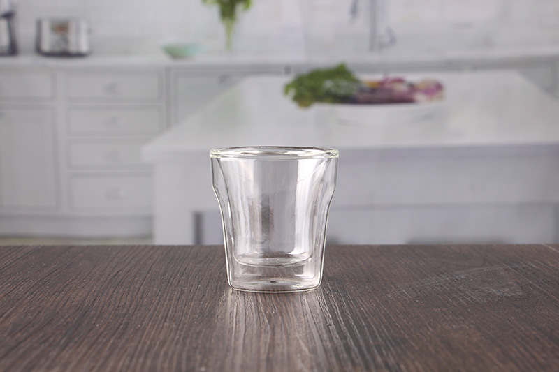 heat resistant glass double wall mug