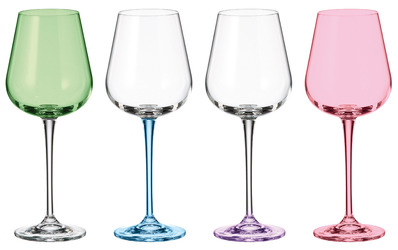 01 Coloured Wine Glasses  For Sale