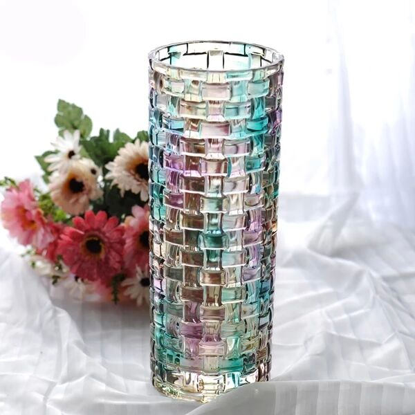 electroplated glass vase