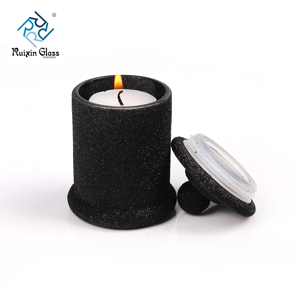 Machine Blown Decating Storage Jar Candle Holder With Lids
