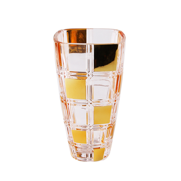 electroplated glass vases