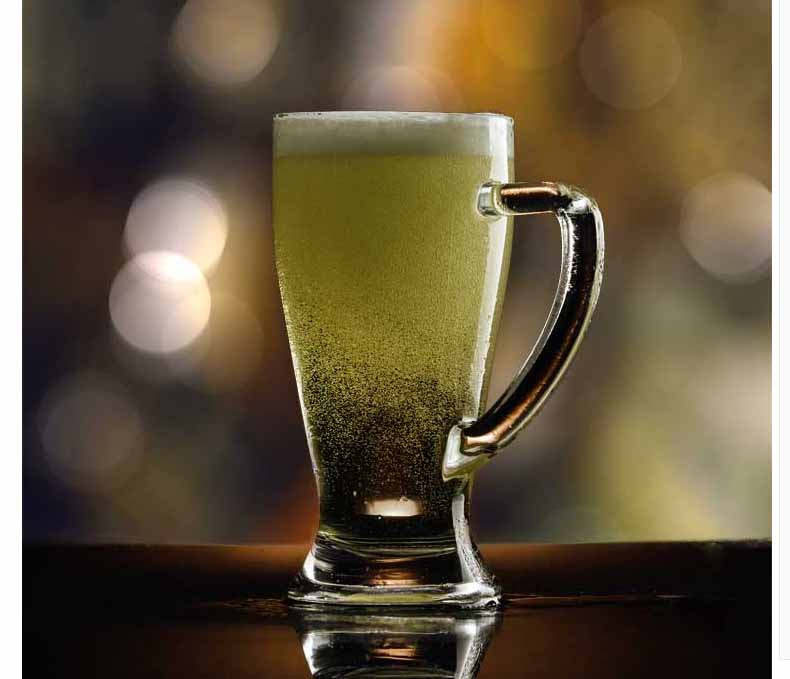 glass beer mug with handles