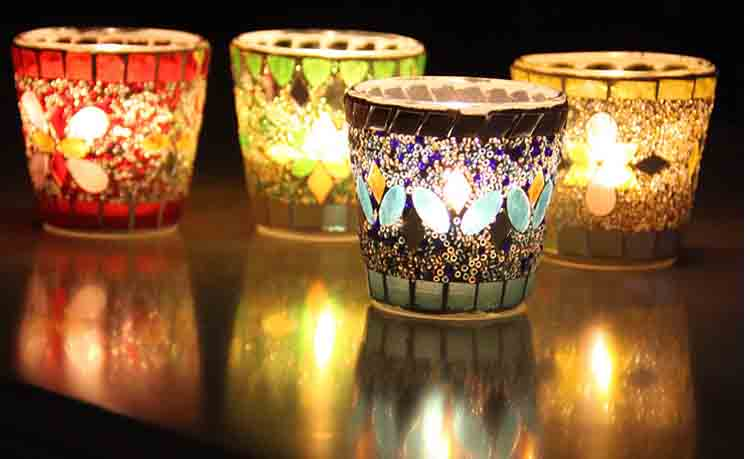 mosaic votive candle holders