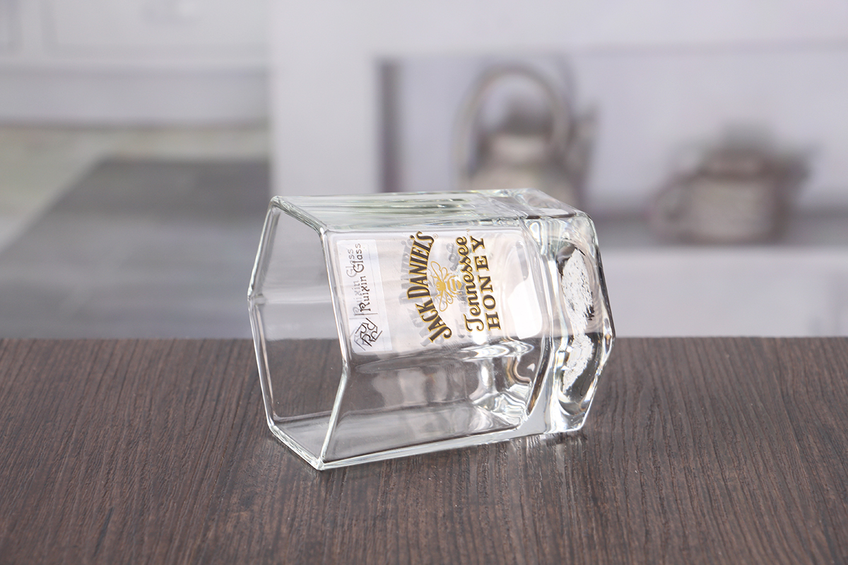 Hexagon Decal Whiskey Glasses