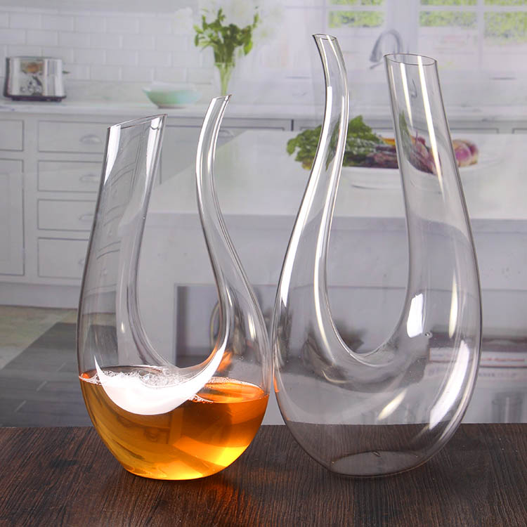 how to wash u shaped wine decanter
