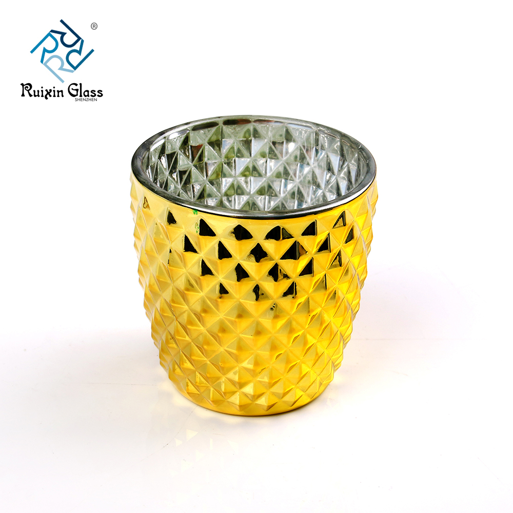 1.Item No: RXCH1803022 2.Type:Cylinder Candle Holder 3.Size:T:10cm B9.3cm H:9.8cm 4.Crafts: Electroplating 5.Packing: Normal packing, 4 pieces in inner box, 48 pieces in box 6.Producing Area: Shenzhen