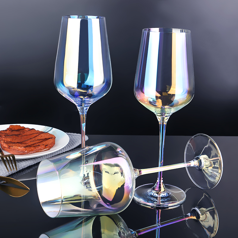 07 Colored Wine Glasses Cheap
