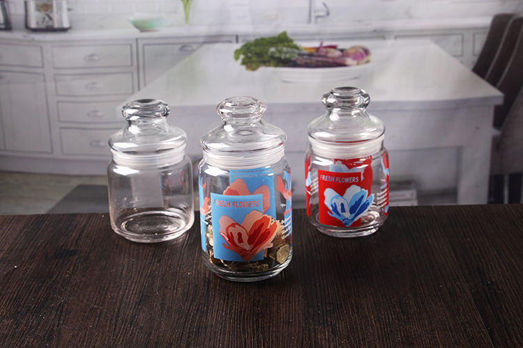 Sealed Glass Jar With Dome Lid