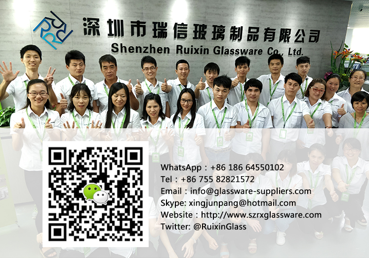 Taiwanese customers looking for a red wine glass custom factory chose Ruixin Glass