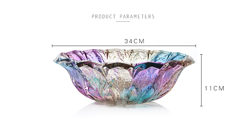 High quality glass fruit plate beautiful atmosphere glass bowl