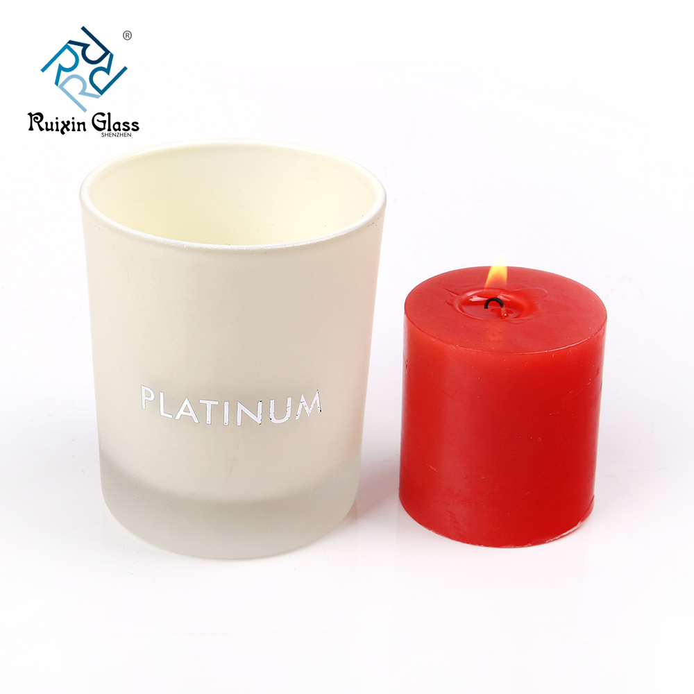 Chinese factory wholesale white candle jars