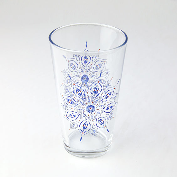 colorful glass cup