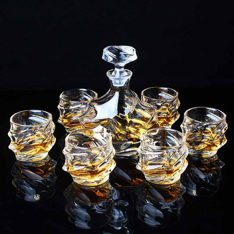 whiskey glasses set