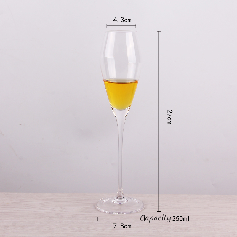different champagne glasses