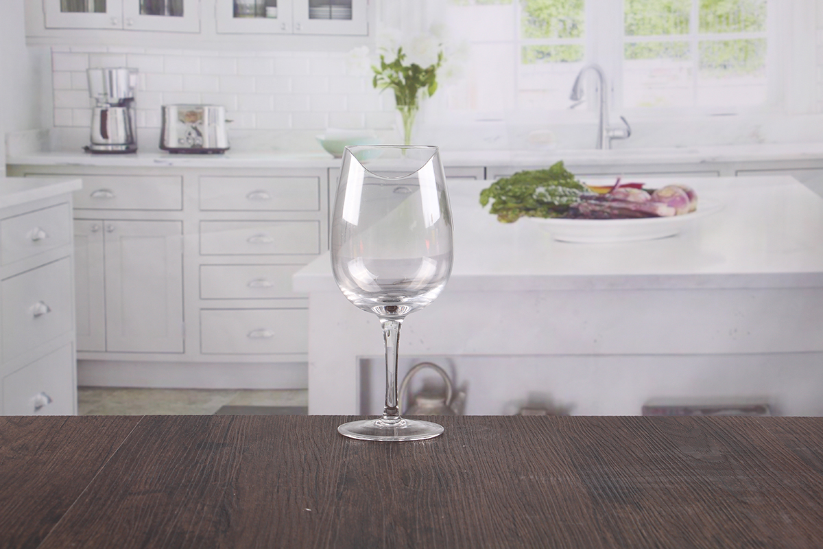 Elegant wine glasses