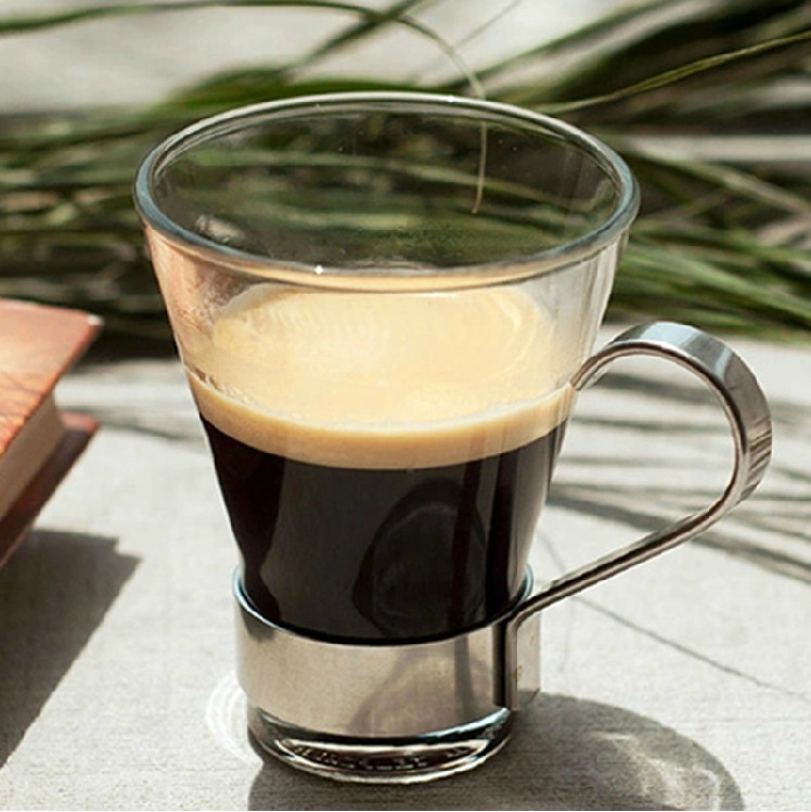 small glass coffee cups
