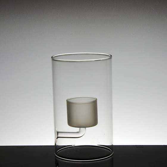 unique double wall glass cup