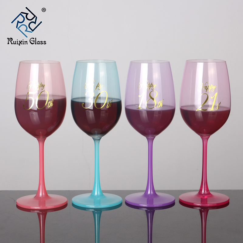 11 China Factory Wholesale Colored Wine Glasses Bulk