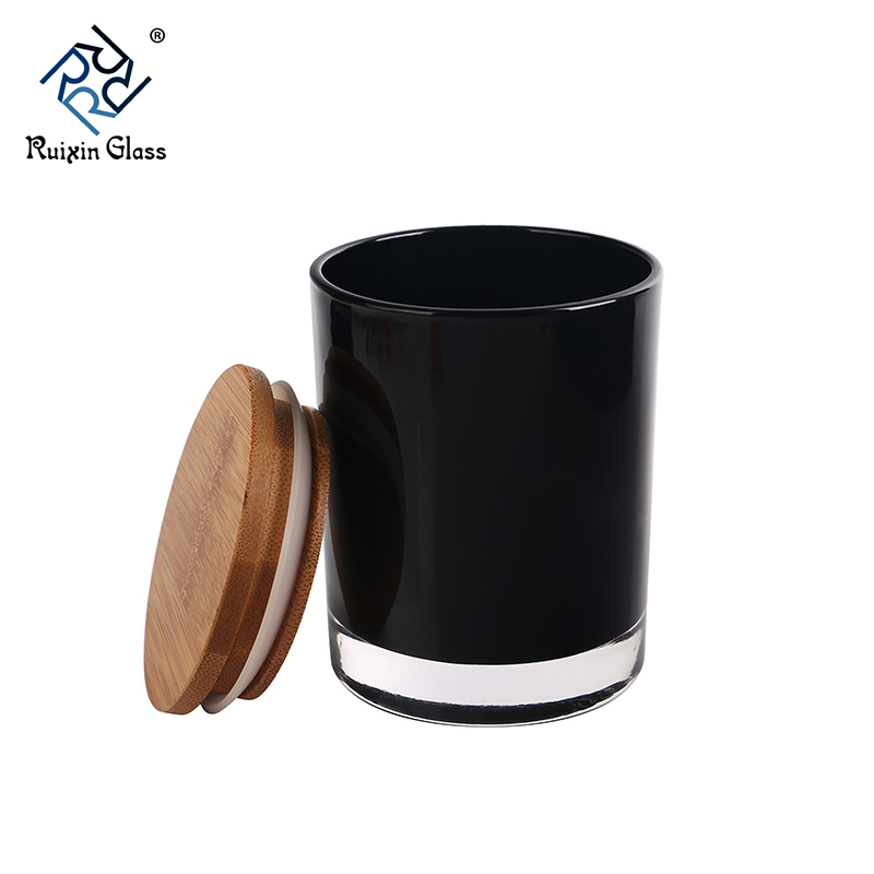 CD066 Glass Candle Jars With Wooden Lids