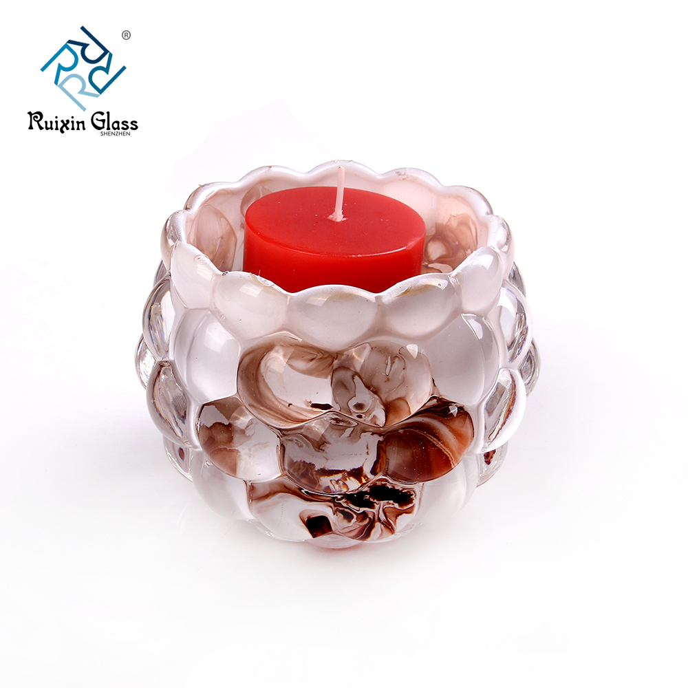 Chinese factory wholesale decorative glass candle holders
