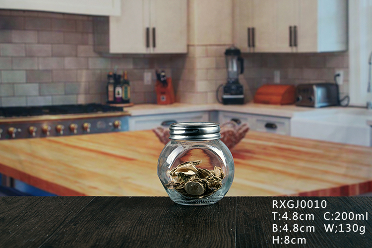 Clear glass jar whit lids