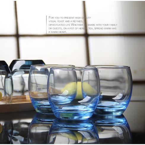 clear glass tea cup set