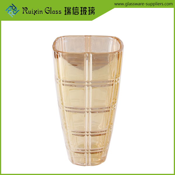 golden glass vases