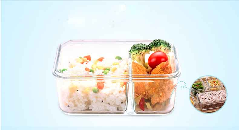 Glass food boxes with lid