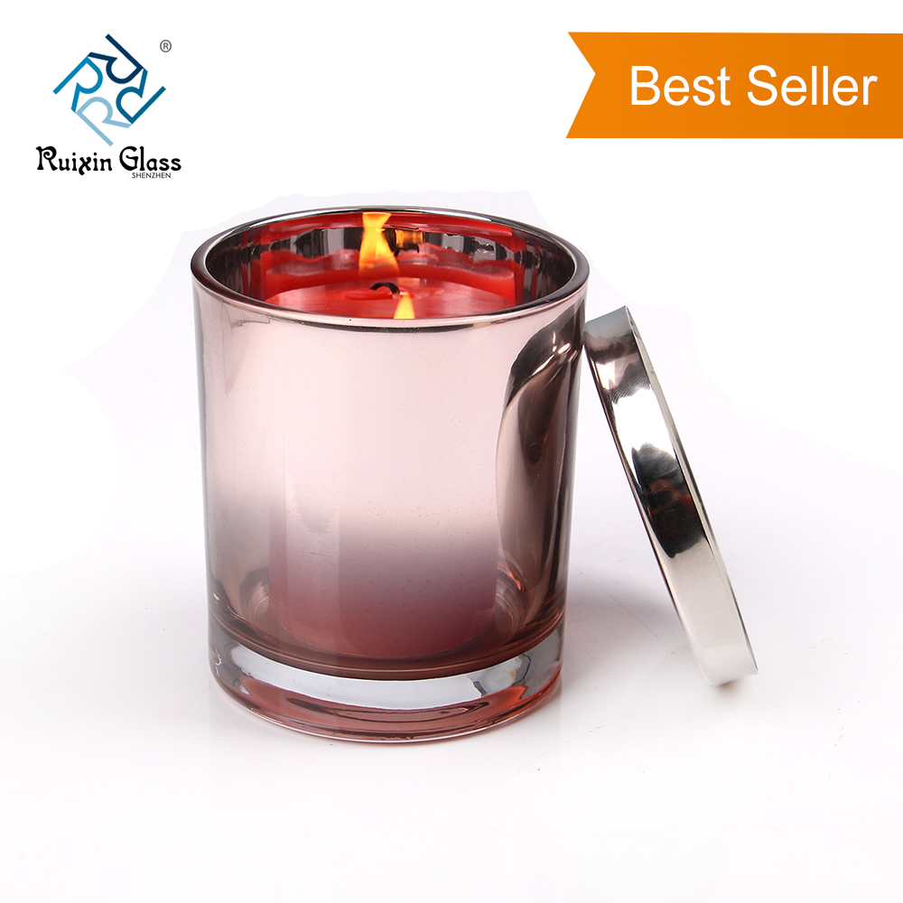 CD064 Glass Candle Jars With Metal Lids