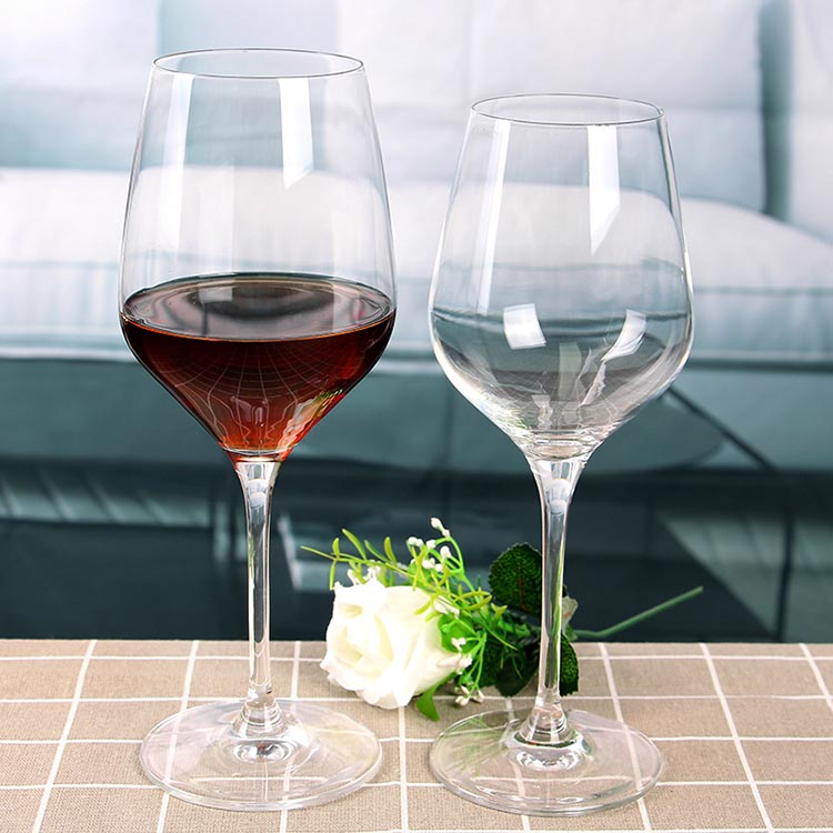Long stem wine glasses