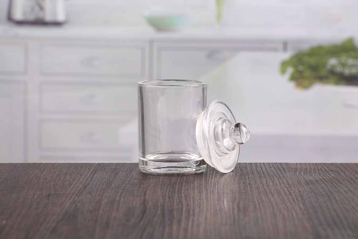 Small Glass Jar With Dome Lid