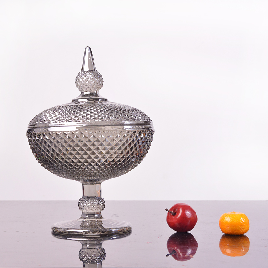 gold plated glass candy bowl