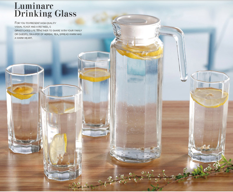 Glass bottle set