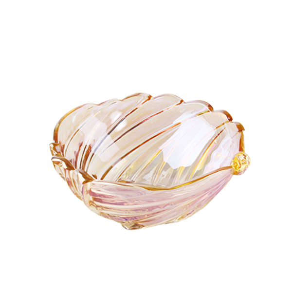 Lotus Leaf Shape Glass Fruit Plate
