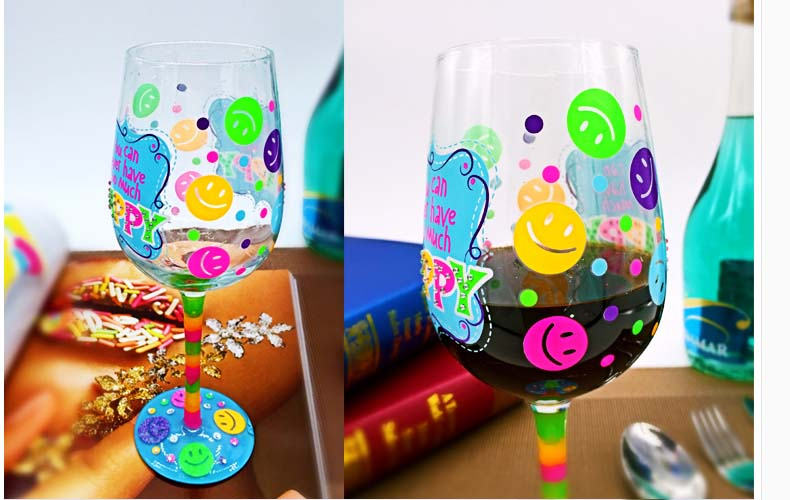 hand painted wine glasses wholesale