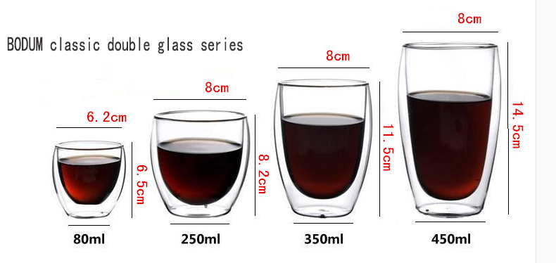 double walled drinking glasses