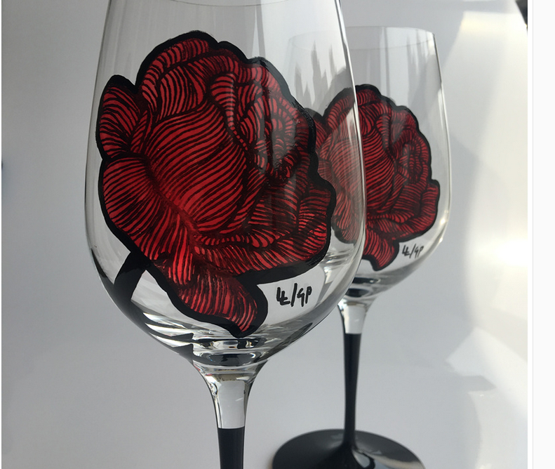wine glass paintings