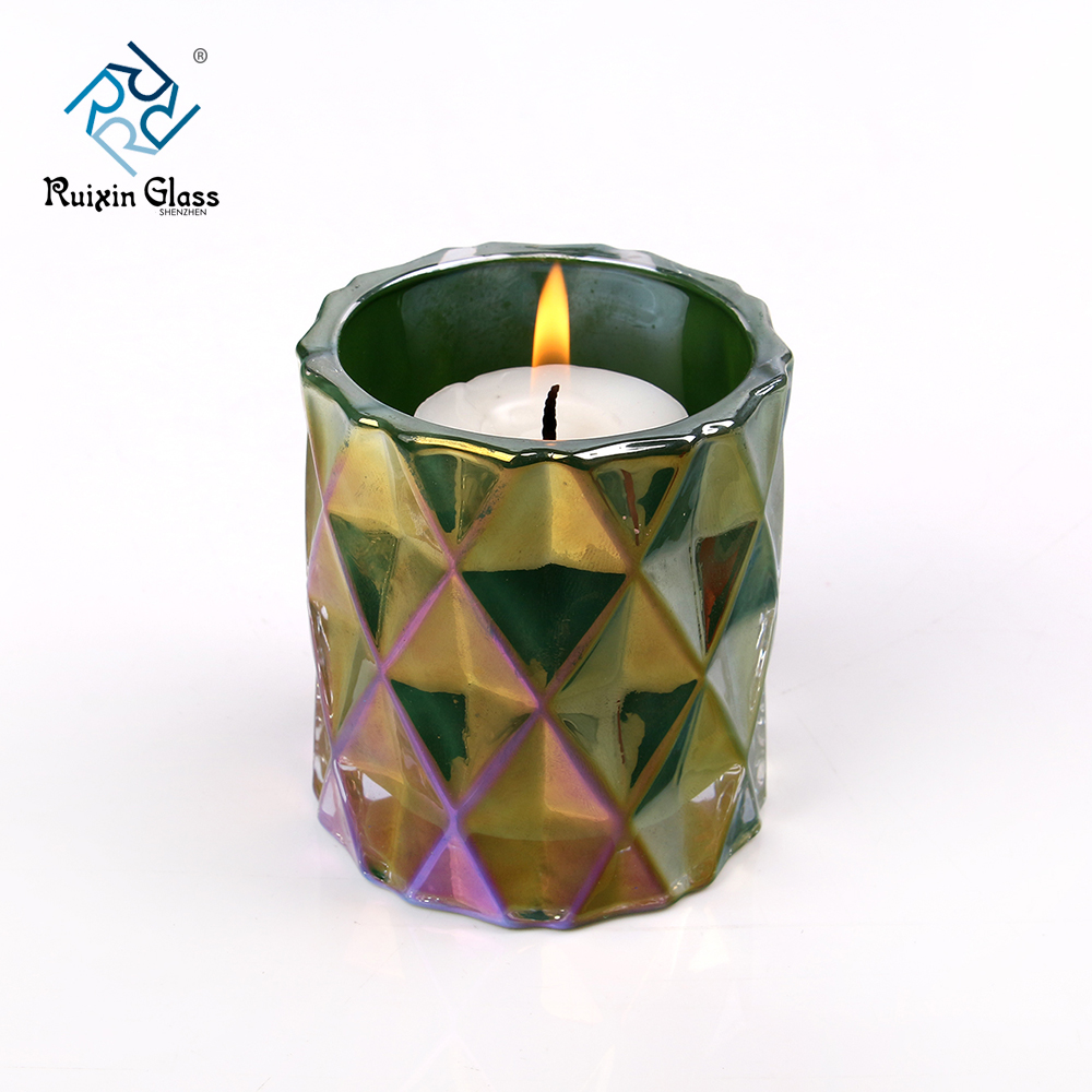 China decorative glass candle holders photos