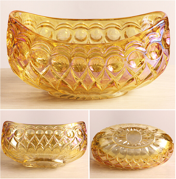 Electroplate Glass Fruit Bowl