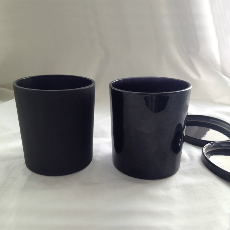 Black Glass Candle Jar